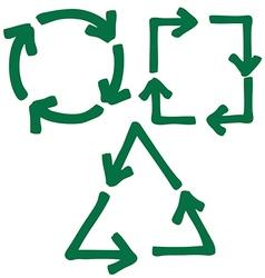 set of arrow 4 1 vector image