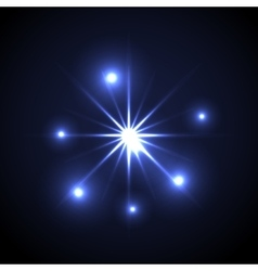 Shining star glow spot vector