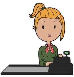 Shop assistant vector