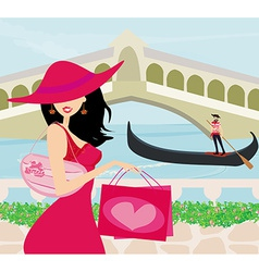 Shopping in Venice vector
