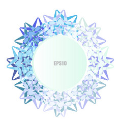 Simple snowflake icon or mandala isolated on vector