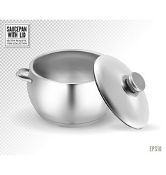 steel saucepan on a transparent background vector image