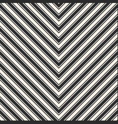 stripes seamless pattern chevron black texture vector image