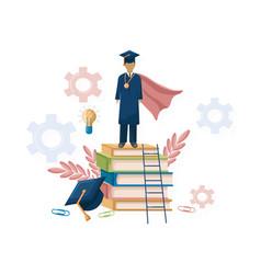 student graduation flat style symbols vector image