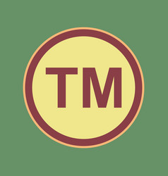 Trade mark sign cordovan icon and mellow vector