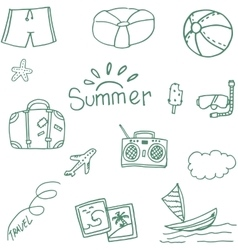 Travel at summer doodle vector image