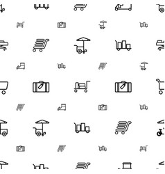 trolley icons pattern seamless white background vector image