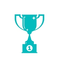 Trophy winner cup award shape icon isolated vector image