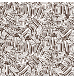Vintage pumpkin seamless pattern vector