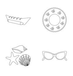 Water attraction seashells gogglessummer vector