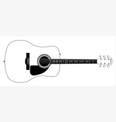 White guitar vector