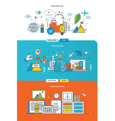 workflow process creative design investment idea vector image