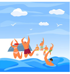 yacht party in summer sea luxury vacation vector image
