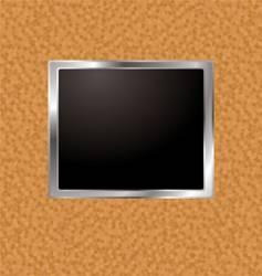 cork frame vector image vector image