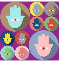 Hamsa symbol Evil eye vector image