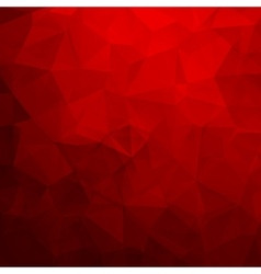 Abstract red geometric triangle background vector image vector image