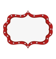 circus light banner icon vector image