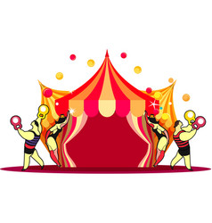 circus tent show vector image vector image