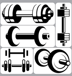 Dumbbell Signs Set vector image vector image