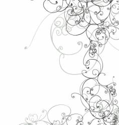 Floral scroll vector