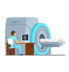Mri scan and diagnostics health care vector