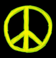 Peace sign Hippie symbol of peace vector image