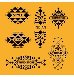 Tribal logo set vector image vector image