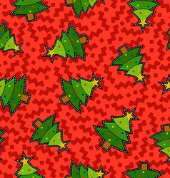 Christmas pine tree patch icon pattern background vector image vector image