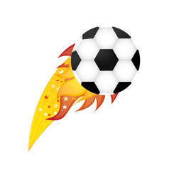 colorful olympic flame with soccer ball vector image