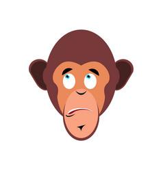 monkey surprised emoji marmoset astonished vector image vector image