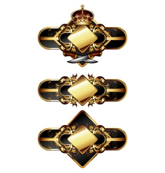 set of ornamental golden labels vector image vector image