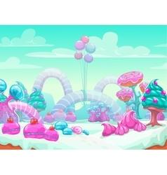 Sweet world cartoon vector image vector image
