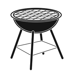 Barbecue grill icon in black style isolated on vector image