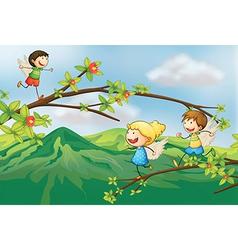 Cartoon Angels vector image