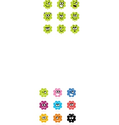 cute bacteria or monster collection vector image vector image