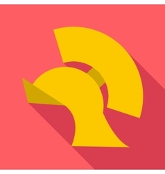 Gladiator helmet icon flat style vector image vector image