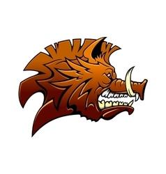 Head of a fierce snarling wild boar vector image vector image