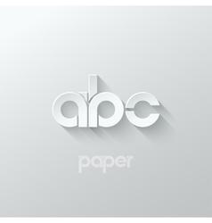 Letter a b c logo alphabet icon paper set vector