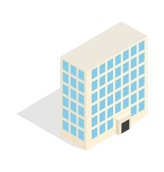 Office building icon isometric 3d style vector image vector image