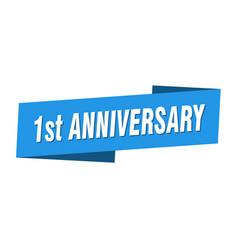 1st anniversary banner template 1st anniversary vector