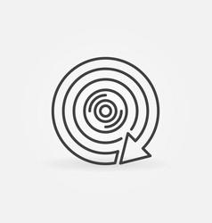 360 degree camera with arrow concept icon vector