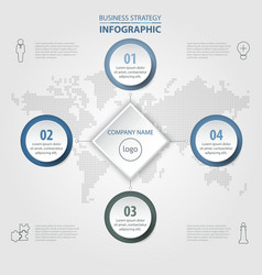 4 steps modern and clean business infographics vector image