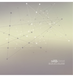 Abstract Background with Dots Array and Lines vector