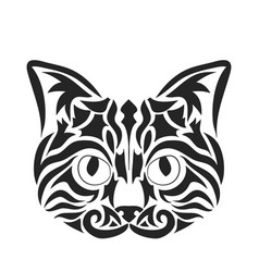 Abstract cat face vector