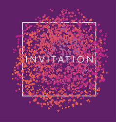 abstract chaotic dots invitation frame vector image
