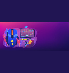 action game concept banner header vector image