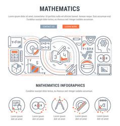 Banner mathematics vector