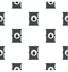 Barrel of oil pattern flat vector