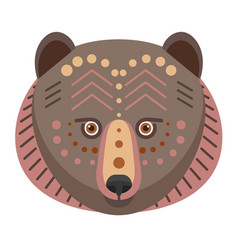 bear head logo decorative emblem vector image