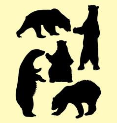 bears silhouette vector image